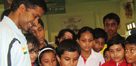 Dronacharya Awardee Pulella Gopichand with BBA Trainees