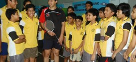 Olympian Nikhil Kanetkar Badminton Clinic at Ordnance Club