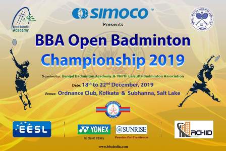 BBA OPEN CHAMPIONSHIP 2019,STARTING FROM 18-12-19 TO 22-12-19, ORDER OF MATCHES DISPLAYED IN THE EVENTS SECTION