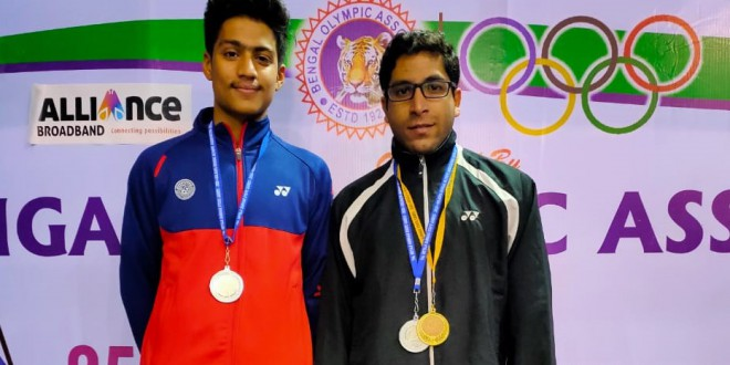 Bengal Badminton Academy  player   Rajdeep Mitra (NCBA)and Romit Ray(SCBA)  won Silver Medal in Badminton Men's doubles event  in prestigious  Netaji Subhas State games at SAI ,  Kolkata